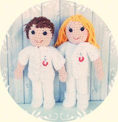 Una pareja de enfermeros Amigurumis muy especial | Terapia Ganchillera