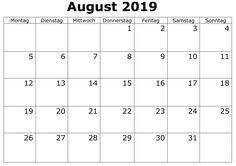 August Kalender Bild 2019 Mit Feiertagen August Kalender, Words, Thursday, Holiday, Horse