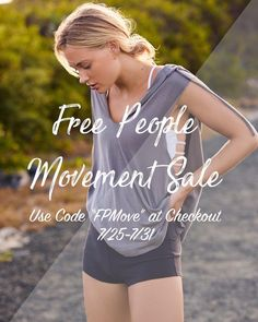"""Receive 40% all Free People Movement (even the stuff that's already on sale!) today through 7/31! Use code """"FPMove"""" at checkout. . . #freepeople #freepeopleshowroom #fpmovement #fpchicago #fomove #sale #discount #shoponline #shoplocal #freepeoplesale #444evergreen #chicago #activewear"""
