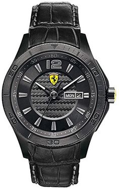 Men  Watches - Ferrari Mens 0830093 Scuderia Analog Display Quartz Black Watch -- To view further for this item, visit the image link. (This is an Amazon affiliate link)