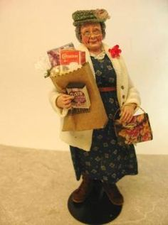 Mayberry Lady by Marica Backstrom hand sculpted dollhouse miniature doll