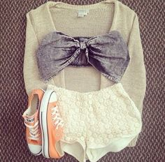 Get this blouse on @Wheretoget or see more #blouse #gray_bow_top #bralette