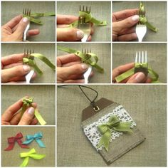 DIY Easy Ribbon Bow with a Fork