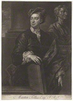 Folkes, Martin (1690-1754), engraving by by John Faber Jr, after John Vanderbank mezzotint, 1737 (1736), 13 7/8 in. x 10 in. (353 mm x 253 mm), London, National Portrait Gallery, purchased, 1966,NPG D4987