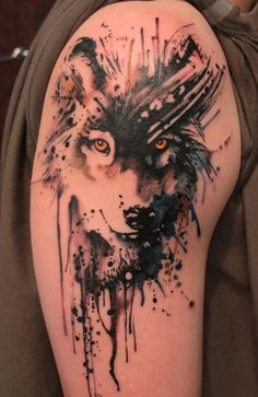 Картинки по запросу волчица тату фото