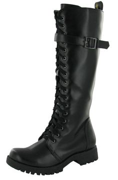 Volatile Combat Women's Boots Knee High Faux Leather Vegan