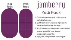Jamberry Pedi Pack - uses for your left over Jamberry Nail Wraps. Did you know you can get two manicures and two pedicures out of each sheet of Jamberrys? What a great value!   http://www.luvmyshields.jamberrynails.net/