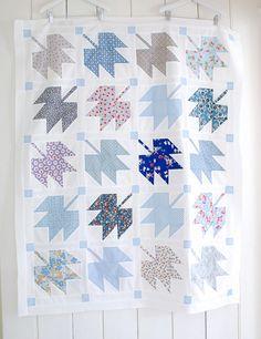 Canadian Maple Leaf Quilt Top, via Flickr.