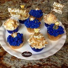 Royal blue and gold baby shower!!