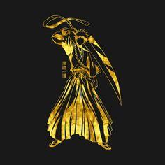 Check out this awesome 'Golden+Ichigo' design on Bleach Art, Bleach Anime, Ichigo Et Rukia, Retro Posters, Manga Characters, Avatar The Last Airbender, Aesthetic Anime, Street Art, Naruto