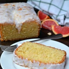 This dense homemade Grapefruit Olive Oil Pound Cake recipe has a light citrusy flavor only achievable from fresh Ruby Red Texas Grapefruit! Grapefruit Cake, Pastry Design, Pound Cake Recipes, Pound Cakes, Olive Oil Cake, No Bake Cake, Cupcake Cakes, Cupcakes, Vanilla Cake