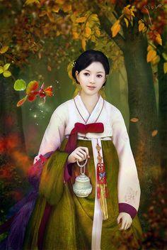 Korean hanbok art
