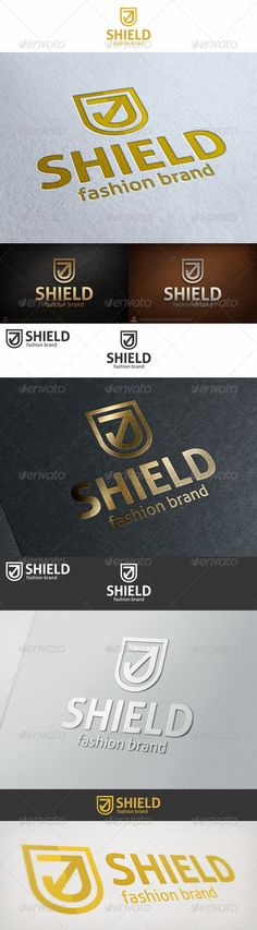 Minimal Shield Logo ¨C a logo that can be used as a brand of clothing and apparel, in schools and educational institutions in diffe