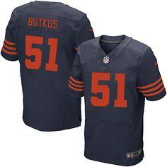 Men Chicago Bears #51 Dick Butkus Navy Blue Elite Jersey #SymbolicBears #Jerseys #ChicagoBears #EliteJersey #BearsHonor #EliteJerseys #DickButkus #Jersey