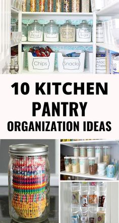 10 Pantry Organization Ideas That Are Easier Than You Think – Craftsonfire These pantry organization ideas will solve all your problems. Find the best ways to store and organize your pantry with these easy hacks - Gray N Black Organize Kitchen Kitchen Organization Pantry, Kitchen Pantry, Organization Hacks, Pantry Ideas, Organized Kitchen, Organizing Tips, Kitchen Hacks, Kitchen Ideas, Built In Pantry