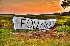 There is a boat on the side of Folly Rd on the way to the beach. People paint it all the time.