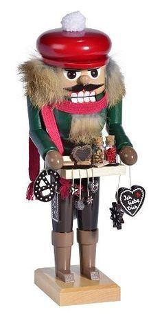 KWO+Gingerbread+Seller+Wooden+German+Christmas+Nutcracker+#PinnaclePeakTradingCompany