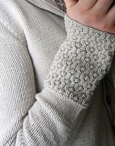 Assemblage by Norah Gaughan with Embossed Honeycomb Stitch in leiu of ribbing