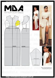 Vestido com recortes