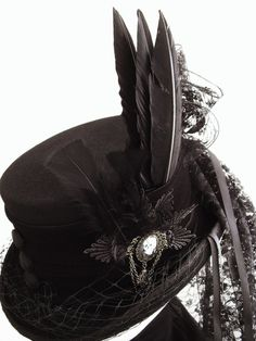 Raven Victorian Riding Hat by Blackpin, £98.00