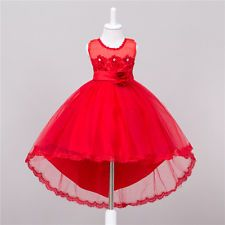 65142322f63f Flower Kid Girls Dress Lace Princess Formal Wedding Bridesmaid Party Dress  US b Girls Evening Dresses