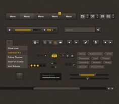 25 free UI kits for Web Designers