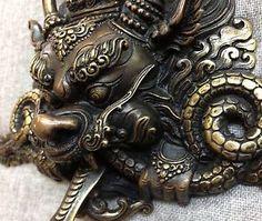 Dragon Mask Tibetan Buddhist Bronze Handcrafted from Nepal Very ...