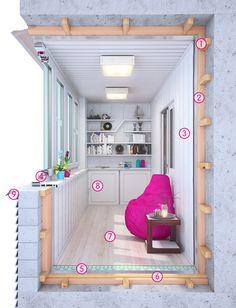 Остекление отделка балконов и лоджий под ключ. Теплое и холодное остекление балконов
