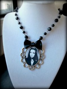 Morticia Addams Pendant Necklace