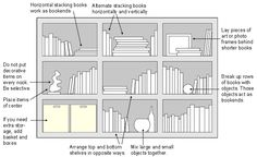 arranging books on a bookshelf | bookcase arrangement, booshelves arrangement, bookcase decoration
