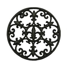 Cast Iron Trivet, Bestplus Potholders Tablemat with Rubbe...