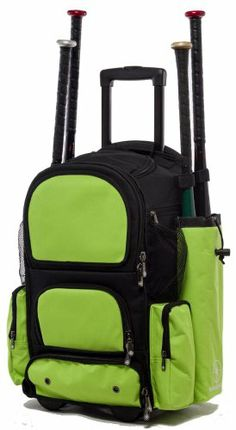 This is why I love being LDS -  Black and Lime Green Chita CTR M Softball Baseball Bat Equipment Roller Backpack BKLGCTRM / http://www.mormonproducts.net/black-and-lime-green-chita-ctr-m-softball-baseball-bat-equipment-roller-backpack-bklgctrm-2/