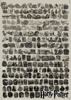 Every Harry Potter chapter illustration ever, in a single poster.