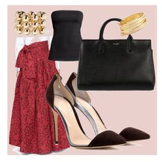 Untitled #11 by anu-lehtonen on Polyvore featuring polyvore, fashion, style, Jourden, Gianvito Rossi, Yves Saint Laurent, Balenciaga, Argento Vivo and clothing