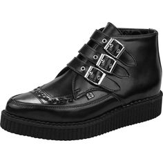 Inked Boutique - 3-Buckle Pointed Creeper Boots Punk Goth Alternative www.inkedboutique.com