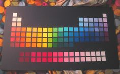 Paint Chip Periodic Table (Potention lesson plan)
