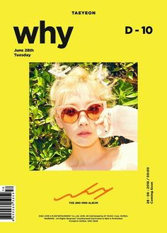 Taeyeon #Why kpop, album cover, editorial, graphic design, photography