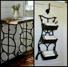 Old sewing machine ideas.