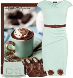 """""""Mint Chocolate Chip"""" by mhuffman1282 ❤ liked on Polyvore"""