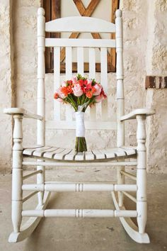 Rocking chair | Rustic Wedding Details | Matthew Chimera Photography