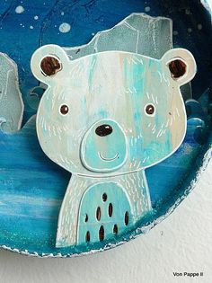 DecoArt - Mixed Media Blog - Project - Polar Bear Wall Hanging