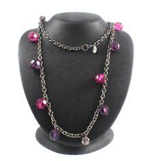 "Robert Rose Glitter Ball Faceted Bead 42"" Necklace +  Black Diamond #RobertRose #Fashion"
