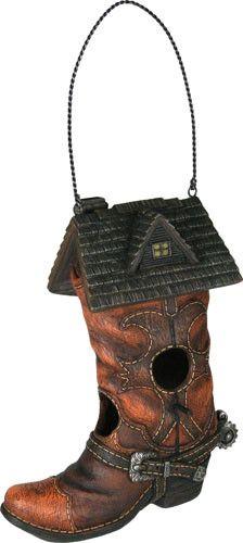 REP Cowboy Boot Birdhouse 635