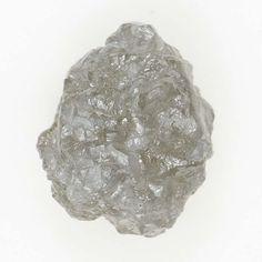 0.84 Ct Natural Loose Diamond Rough Irregular Shape Amazing Silver Color