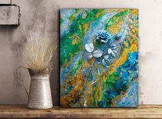 Modern Textured Abstract Painting Acrylic UV Art Large by 3d Painting, Large Painting, Texture Painting, 3d Wall Art, Modern Wall Art, Canvas Wall Art, Unique Paintings, Contemporary Paintings, Original Paintings