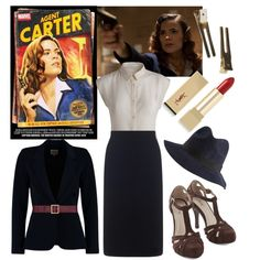 """Agent Carter"" by beetlescarab on Polyvore.  Inspired by Marvel's Agent Carter."