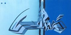 Awesome Graffiti on Canvas by Daim Daim Graffiti, Street Art Graffiti, Graffiti Tagging, Graffiti Styles, Found Art, Street Artists, Neon Signs, 3d, Airbrush