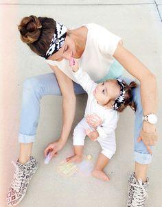 Mom & Mini Headband Of Choice (Turban & Kids Oversize Retro)