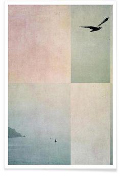 Fly Away als Premium Poster door Ingrid Beddoes | JUNIQE