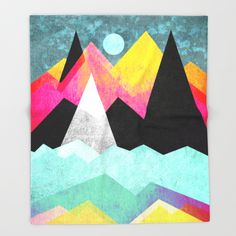 """Candyland"" Throw Blanket by Elisabeth Fredriksson on Society6."